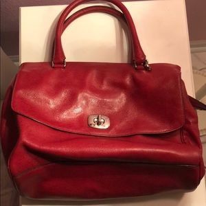 Authentic coach red purse